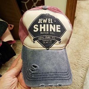 Jewel Shine Motor Oil Distressed Cap Adjustable.